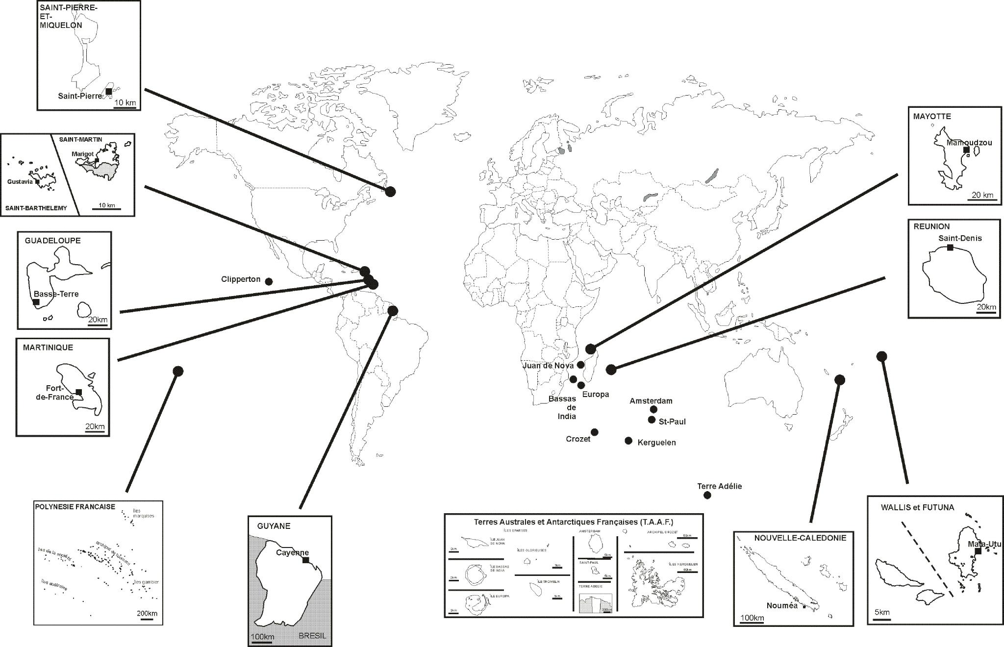 carte des territoires ultramarins français Les territoires ultramarins français – Cyberhistoiregeo Carto